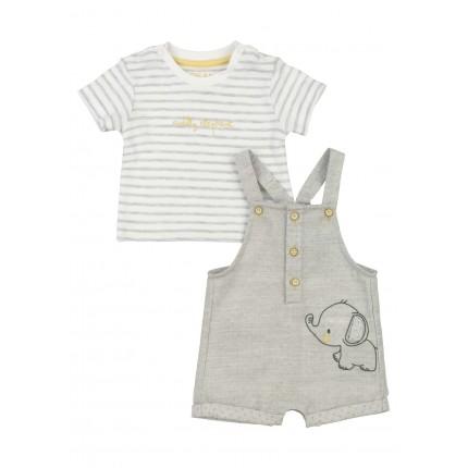 Conjunto Losan Baby mono y camiseta Aiddly Elephant Recién nacido