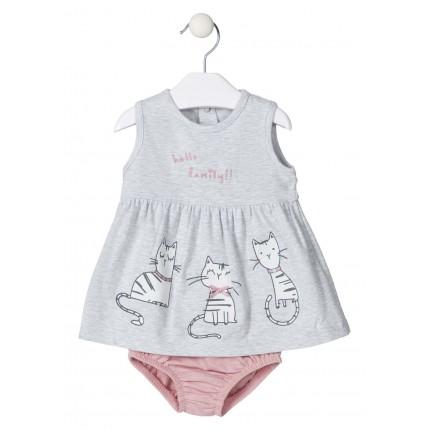 Vestido Losan Baby Hello Family! con culetin recién nacido