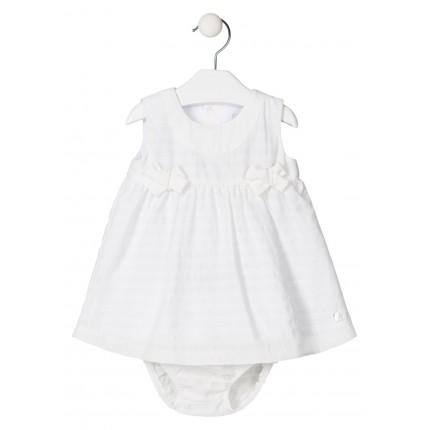 Vestido Losan Baby Chic Collection con lazos recién nacido