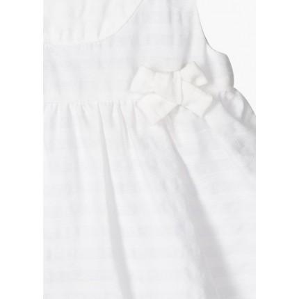 Detalle cintura Vestido Losan Baby Chic Collection con lazos recién nacido