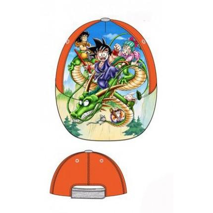 Gorra Dragon Ball niño Goku y el Dragon Shenron con cierre