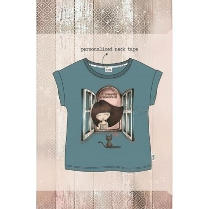 Camiseta Anekke Seaside niña gatito Towanda con dobladillo