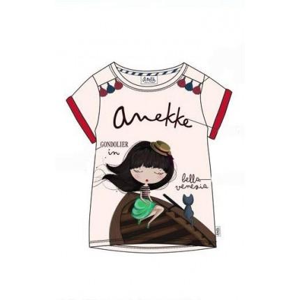 Camiseta Anekke niña Bella Venezia con dobladillo