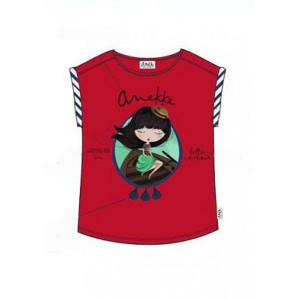 Camiseta Anekke niña con dobladillo y flecos