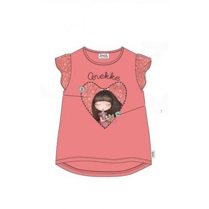 Camiseta Anekke niña con volantes en las mangas
