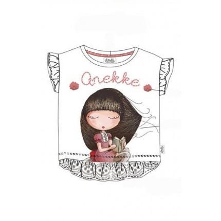 Camiseta Anekke niña con volantes y puntilla
