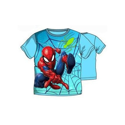 Camiseta Spider-man Crime Fighter niño manga corta en azul cielo