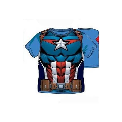 Camiseta Avengers niño Dorso Heroes manga corta Capitán América