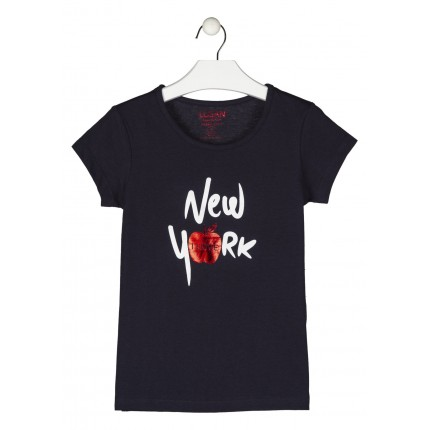 Camiseta Losan niña junior I Love New York manga corta