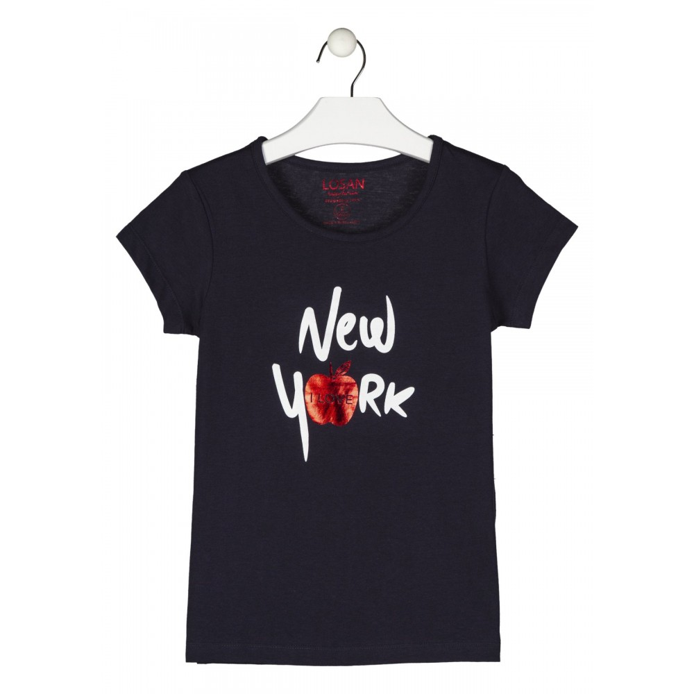 Camiseta Losan niña junior I Love New York manga corta