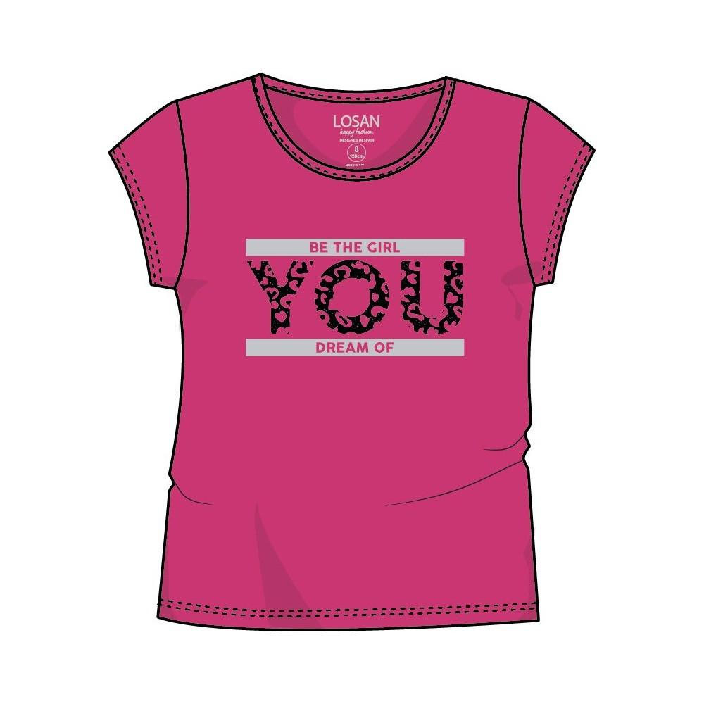 Camiseta Losan niña junior YOU manga corta