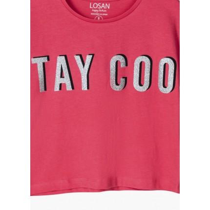 Detalle estampado Camiseta Losan niña junior Stay Cool top