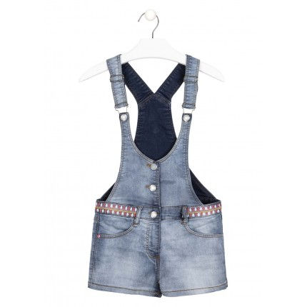 Peto Losan niña junior denim con bordados