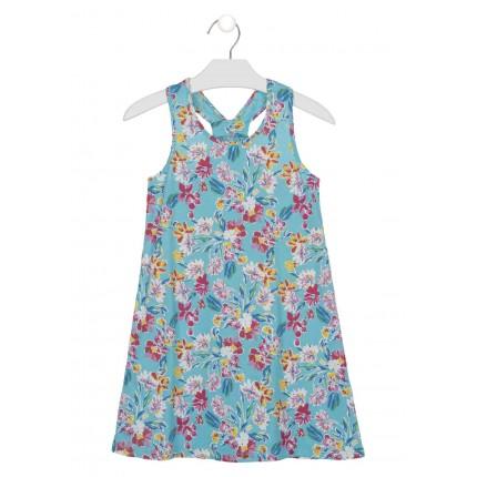 Vestido Losan niña junior Flores tirantes