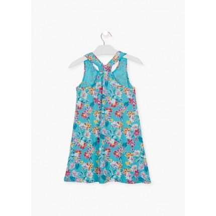 Espalda Vestido Losan niña junior Flores tirantes