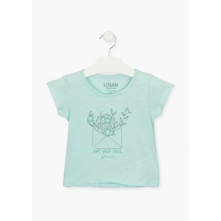 Camiseta Losan Kids niña estampada manga corta