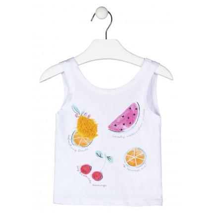 Camiseta Losan Kids niña Fruits tirantes