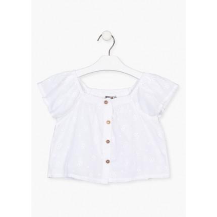Camisa Losan Kids niña corta con botones