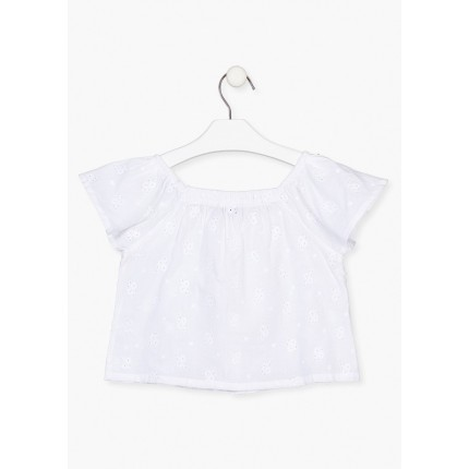 Espalda Camisa Losan Kids niña corta con botones