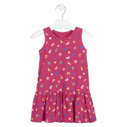 Vestido Losan Kids niña infantil estampado tirantes
