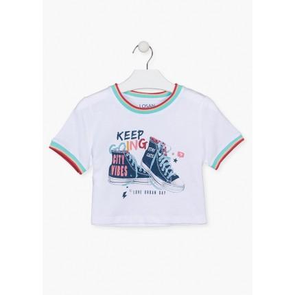 Camiseta Losan niña junior Love Urban Day manga corta