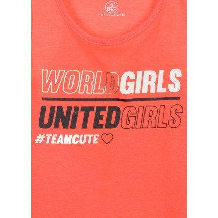Detalle estampado Camiseta Losan niña junior Team Cute sin mangas