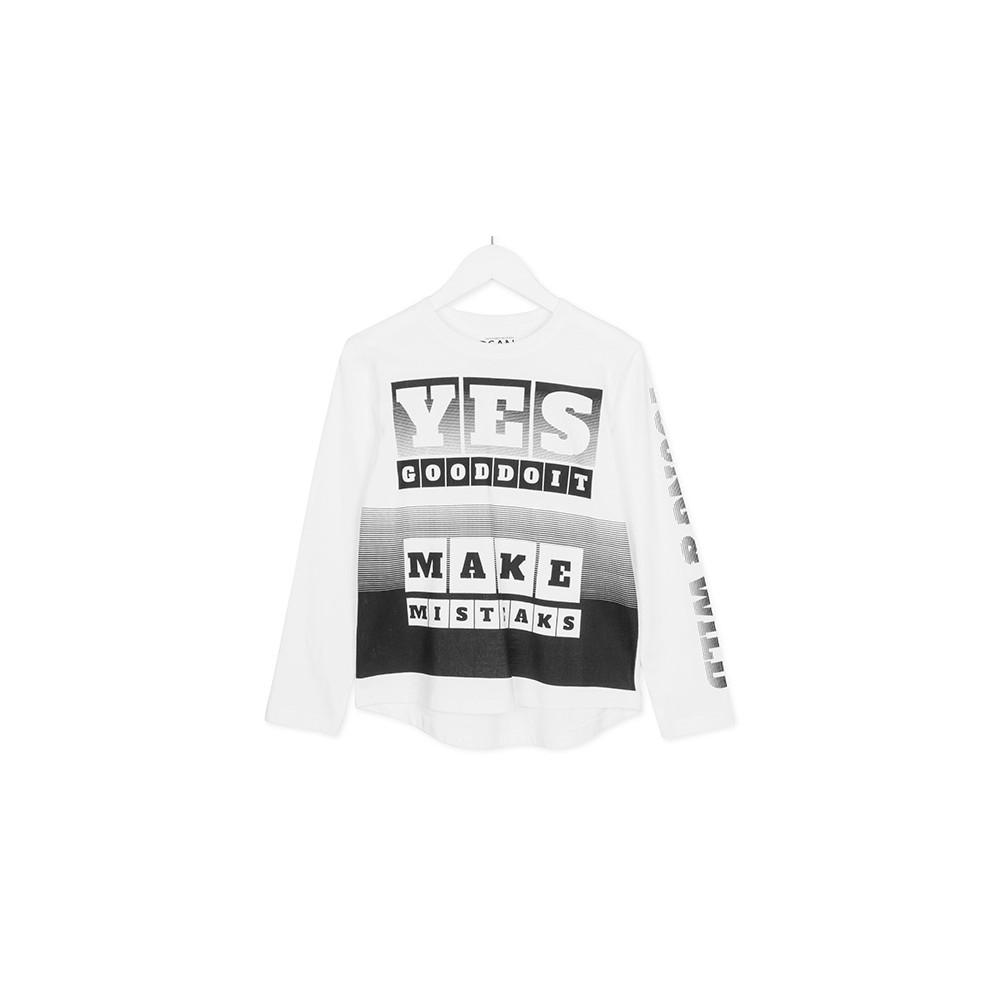 Camiseta Losan niño junior Yes good doit manga larga