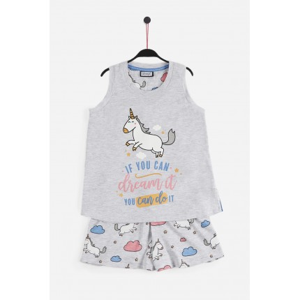 "Pijama Mr.Wonderful niña junior tirantes If You Can Dream it you can do it ""Si puedes soñarlo puedes hacerlo"""