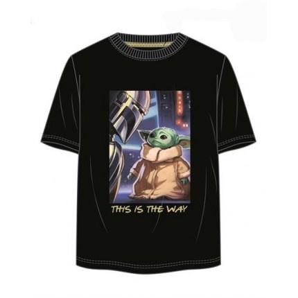 Camiseta Star Wars Baby Yoda adulto manga corta
