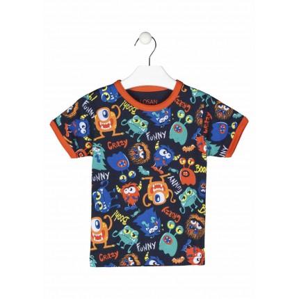 Camiseta Losan kids niño infantil Funny manga corta