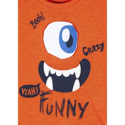 Detalle estampado Camiseta Losan kids niño infantil Colorful Day manga corta