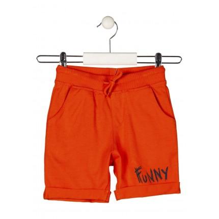 Bermuda Jogging Losan Kids niño infantil Funny con cordón Naranja