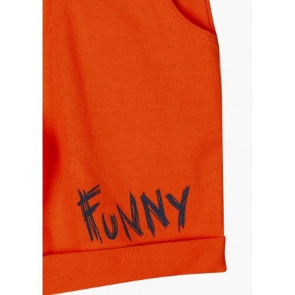 Detalle estampado Bermuda Jogging Losan Kids niño infantil Funny con cordón