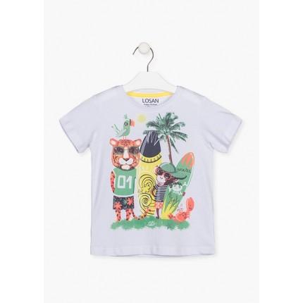 Camiseta Losan kids niño infantil Pirates of Surf manga corta