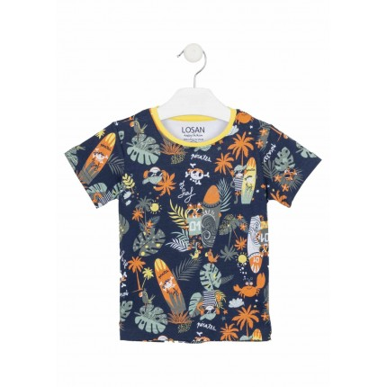 Camiseta Losan kids niño infantil Jungle manga corta