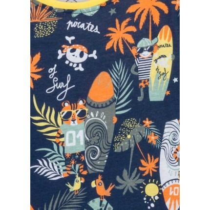 Detalle estampado Camiseta Losan kids niño infantil Jungle manga corta