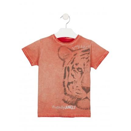 Camiseta Losan kids niño infantil Friendly Jungle manga corta