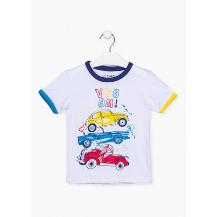 Camiseta Losan kids niño infantil Vroom! manga corta