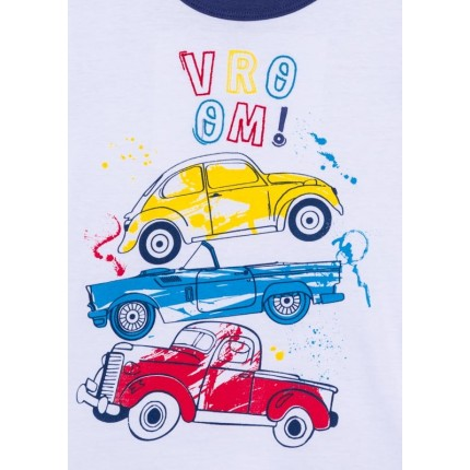 Detalle dibujo de Camiseta Losan kids niño infantil Vroom! manga corta