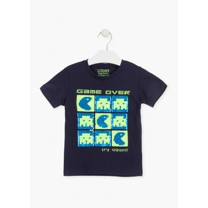 Camiseta Losan kids niño infantil Game Over manga corta