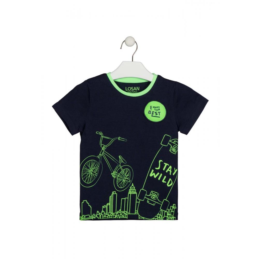 Camiseta Losan kids niño infantil Make Your Best manga corta