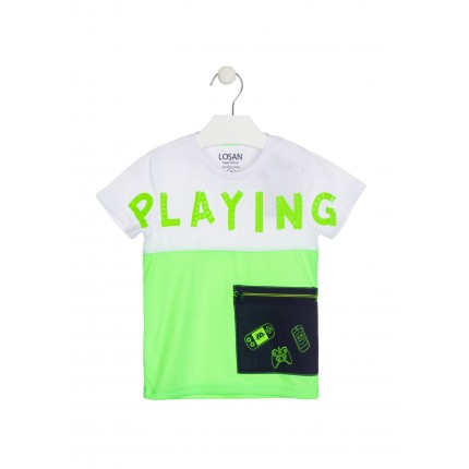 Camiseta Losan kids niño infantil Playing manga corta