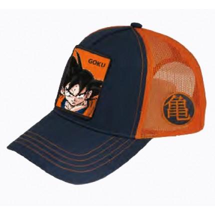 Vista lateral de Gorra Dragon Ball Z Goku Trucker con cierre
