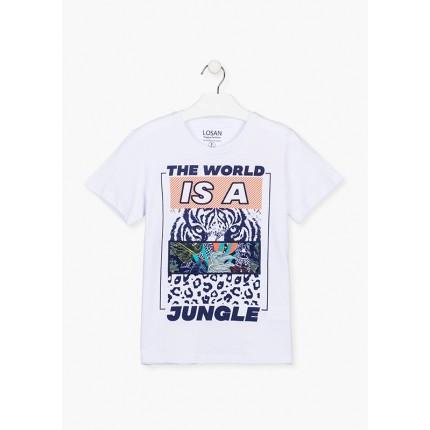 Camiseta Losan niño junior Jungle manga corta