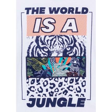 Detalle dibujo de Camiseta Losan niño junior Jungle manga corta