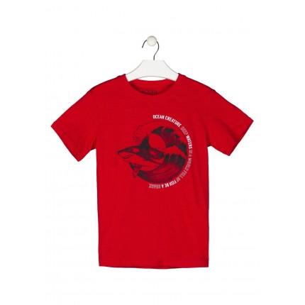 Camiseta Losan niño junior Shark manga corta