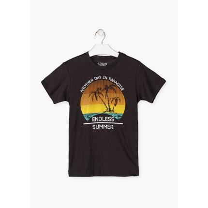 Camiseta Losan niño junior Paradise manga corta