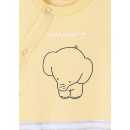 Detalle bordado de Pijama New Born Losan Recién nacido Elephant interlock