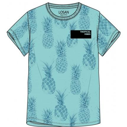 Camiseta Losan niño junior Tropical Vibes manga corta
