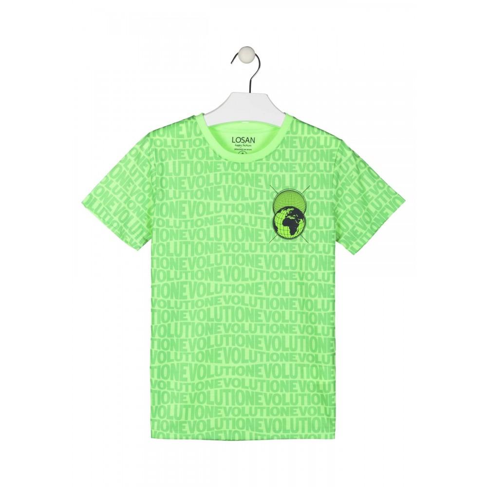 Camiseta Losan niño junior Be Digital manga corta